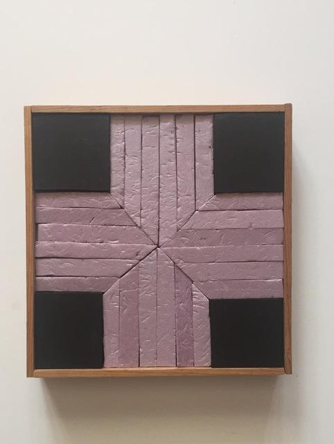 , 'Form No. 16 (pink & black),' 2019, Amos Eno Gallery