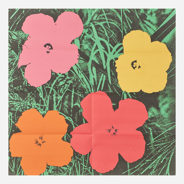 Andy Warhol, 'Flowers', 1964, Print, Offset lithograph in colors (mailer), Rago/Wright