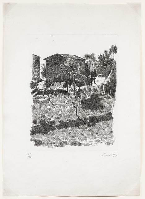 Giorgio Morandi, 'Il Poggio al mattino, 1927 (Vitali 35)', 1927, DICKINSON