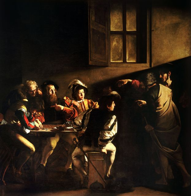 Michelangelo Merisi da Caravaggio, 'The Calling of St Matthew,' 1599-1600, Art History 101