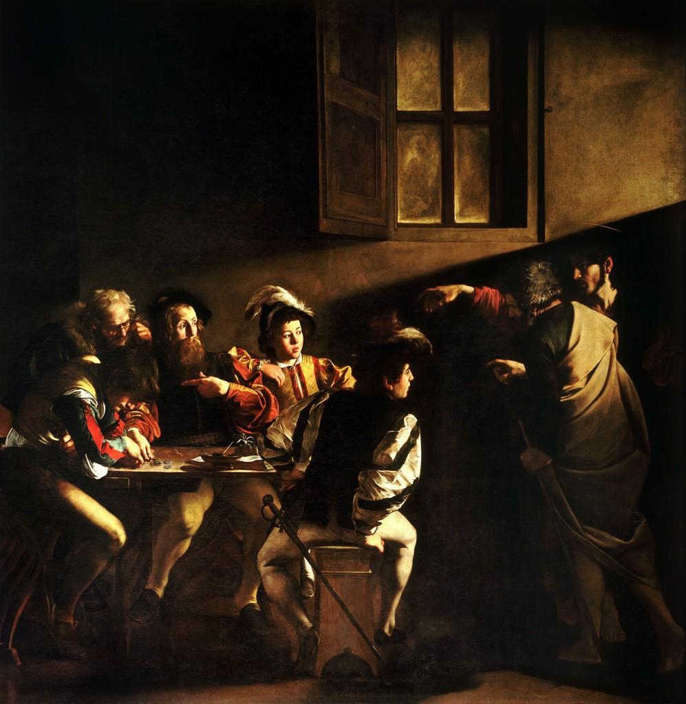 Michelangelo Merisi da Caravaggio, 'The Calling of St Matthew,' 1599-1600, Art History 101
