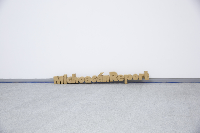 , 'Title Sculpture of Michoacán Report,' 2016, Sifang Art Museum