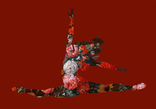 Agent X, 'Grand Jetes avec des fleurs (Red)', 2019, Cerbera Gallery