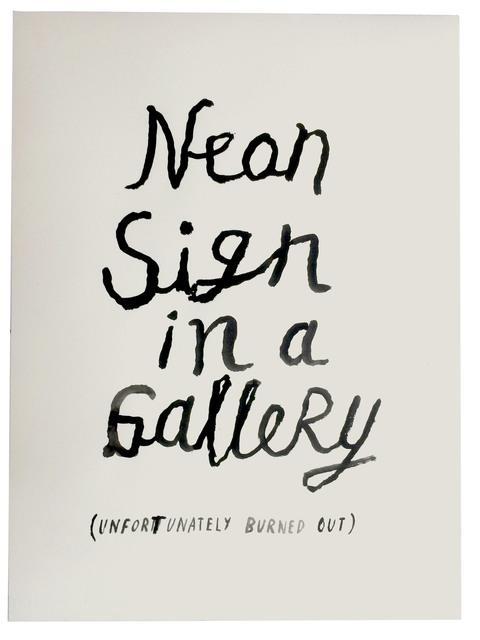 , 'Art History in 100 Drawings: NEON,' 2016, Sapar Contemporary