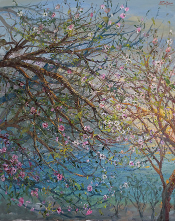 , 'Blossoming Trees on Coast Road,' 2017, Galerie d'Orsay