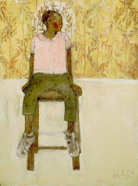 , 'Girl on Stool,' 2018, One Off Contemporary Art Gallery