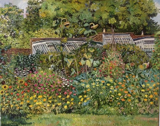 , 'Sunflowers in a walled garden,' 2016, Robert Eagle Fine Art