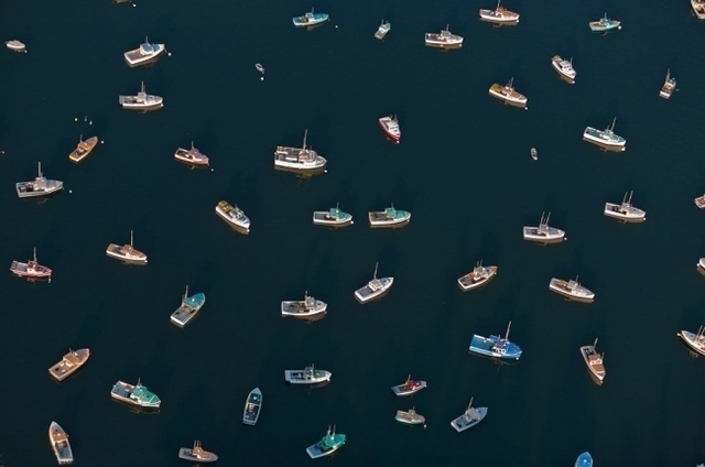 Alex Maclean, 'Directionless Lobster Boats, Tremont, ME', 2010, Clark Gallery