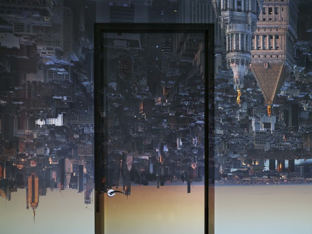 Abelardo Morell, 'Camera Obscura: View of Manhattan from Financial District, Early Evening', 2019, Edwynn Houk Gallery