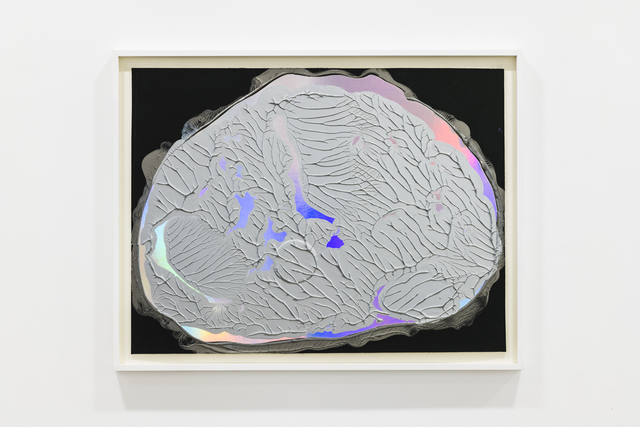 Adam Colton, 'Silver Dream No. 1', 2018, Drawing, Collage or other Work on Paper, Collage, acrylic on iridescent paper, Slewe Gallery