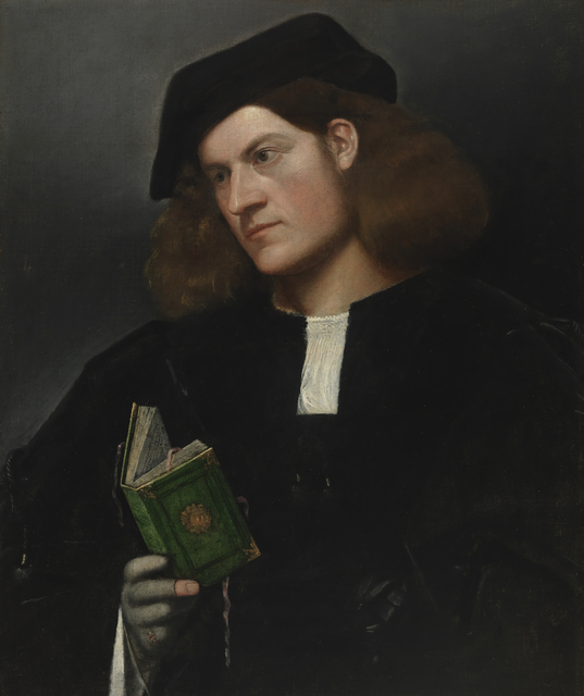 , 'Portrait of a Young Man with a Green Book,' 1510-1520, Legion of Honor