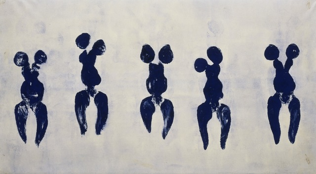 Yves Klein, 'Anthropometry of the Blue Period (ANT 82),' 1960, ARS/Art Resource