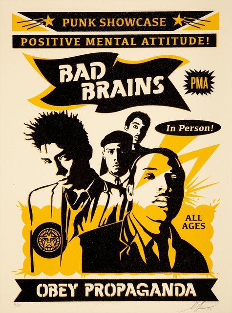 Shepard Fairey, 'Bad Brains Punk SHowcase (Rock for Light)', 2016, Heritage Auctions