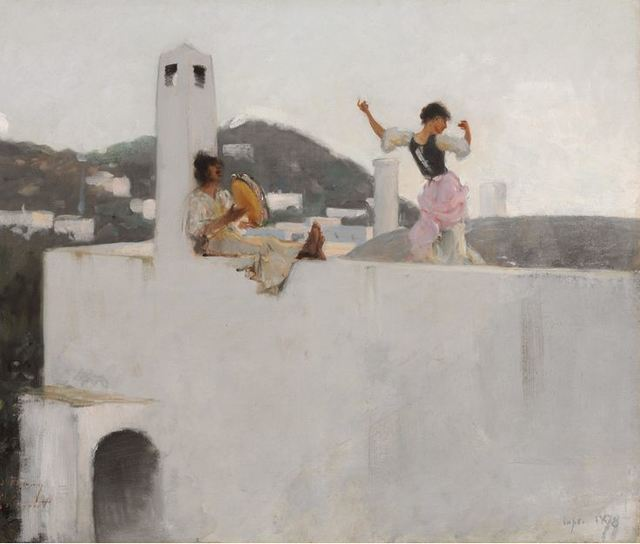 , 'Capri Girl on a Rooftop,' 1878, Crystal Bridges Museum of American Art