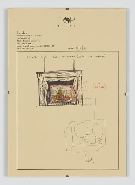 , 'Ontwerp voor Videoprogramma,' 1978, Tatjana Pieters