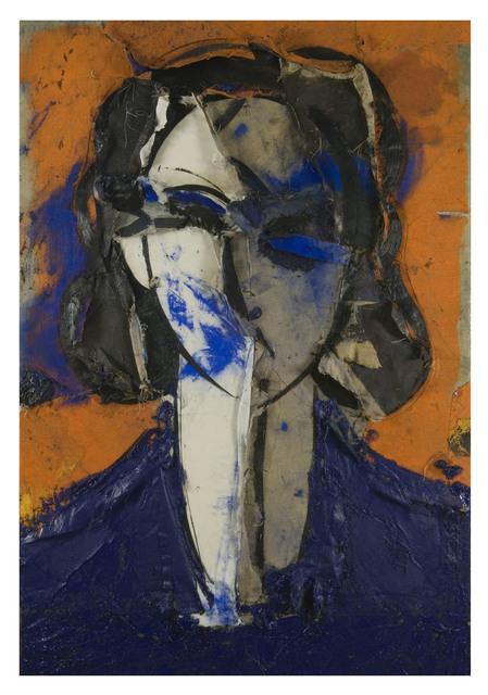 , 'Retrato con Fondo Naranja,' 2007, Galería La Cometa