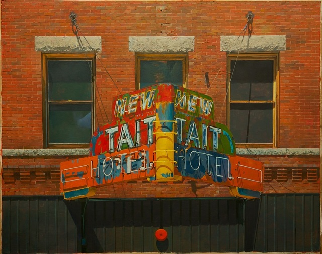 , 'NEW TAIT HOTEL (as seen from the Hotel Finlen, Butte, MT),' 2015, Gallery NAGA