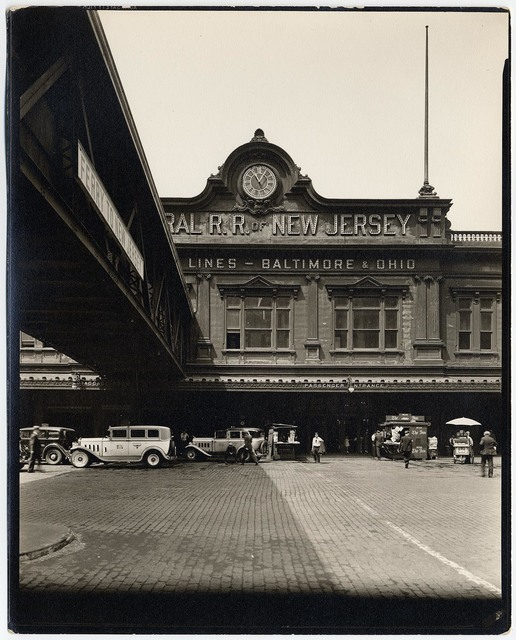 , 'Ferry, Central Railroad of New Jersey.  (Baltimore & Ohio Rail Road.),' 1936, The Old Print Shop, Inc.