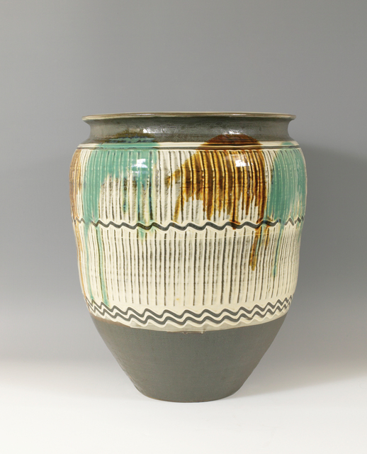 , 'Wide-Mouthed Jar with Two-Color Poured Glazes,' n/a, Pucker Gallery