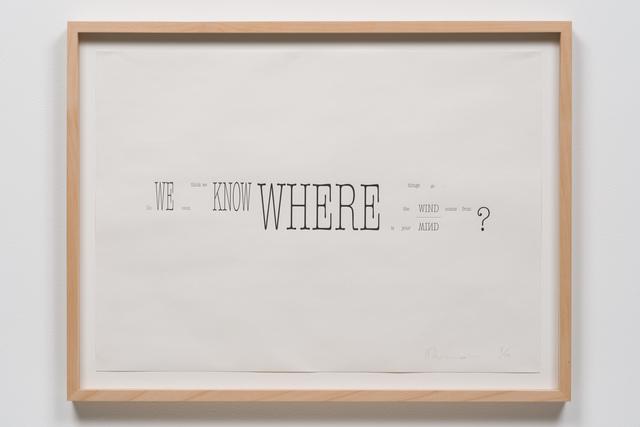 , 'a score of three voices,' 2013, Yuka Tsuruno Gallery
