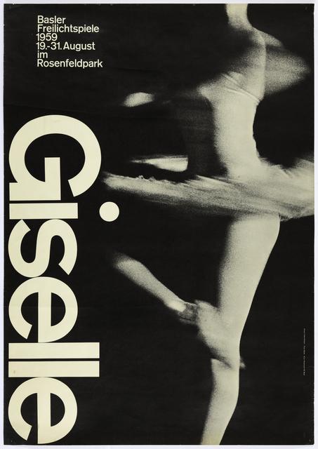 , 'Giselle Ballet, Basel poster,' 1959, San Francisco Museum of Modern Art (SFMOMA)