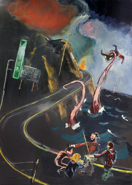 , 'Eenzame wandelaars met groupie, tentakels en Wagyu,' 2014, Tim Van Laere Gallery