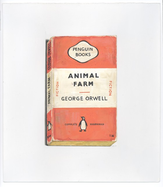, 'Animal Farm (Signet - orange),' 2017, Albert Merola Gallery