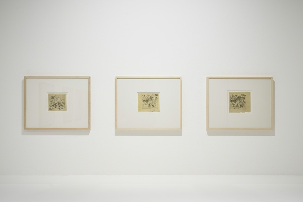 E. W. Nay, 1948-1951, exhibition view, Jahn und Jahn, 2018, © VG Bild-Kunst, Bonn