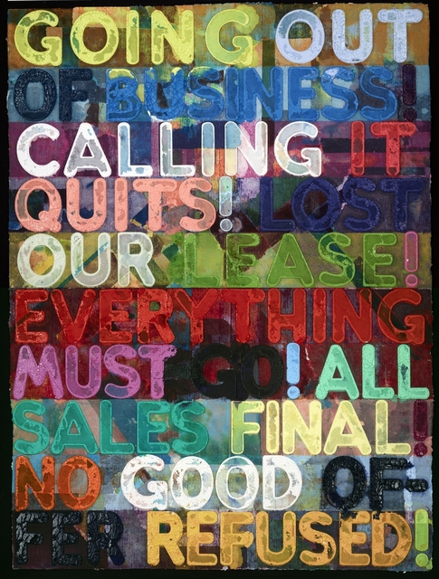 , 'Going Out of Business (MB4167),' 2014, Galerie de Bellefeuille