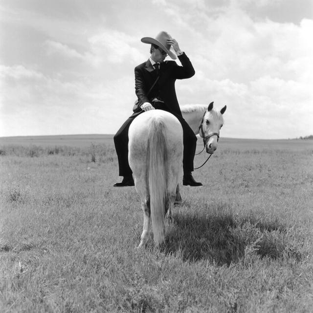 Rodney Smith, 'Greg on Horse Backwards, Alberta, Canada', 2004, Gilman Contemporary