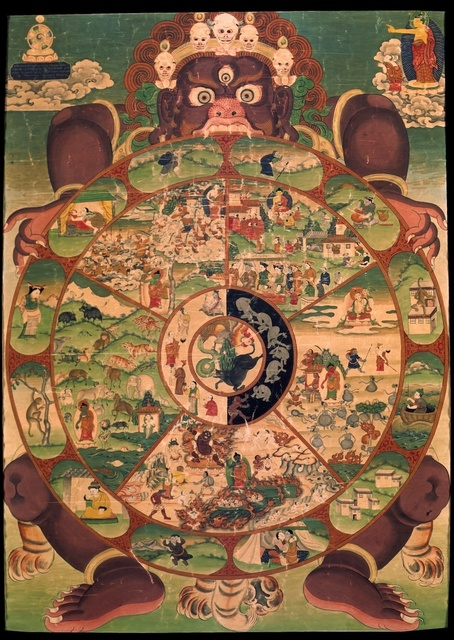 , 'Wheel of Life,' early 20th century, Rubin Museum of Art
