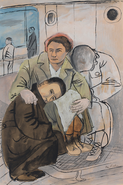 Ben Shahn, 'Immigrant Family', ca. 1938, DC Moore Gallery