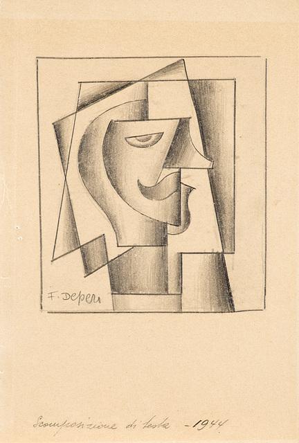 Fortunato Depero, 'Scomposizione di testa', 1934, Il Ponte