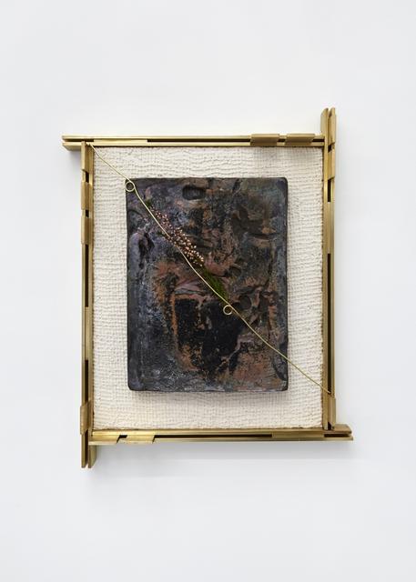 Claire Baily, 'An Ageing Woman', 2019, Sculpture, Raku fired ceramic, brass, jesmonite, pigment & heather, CASTOR