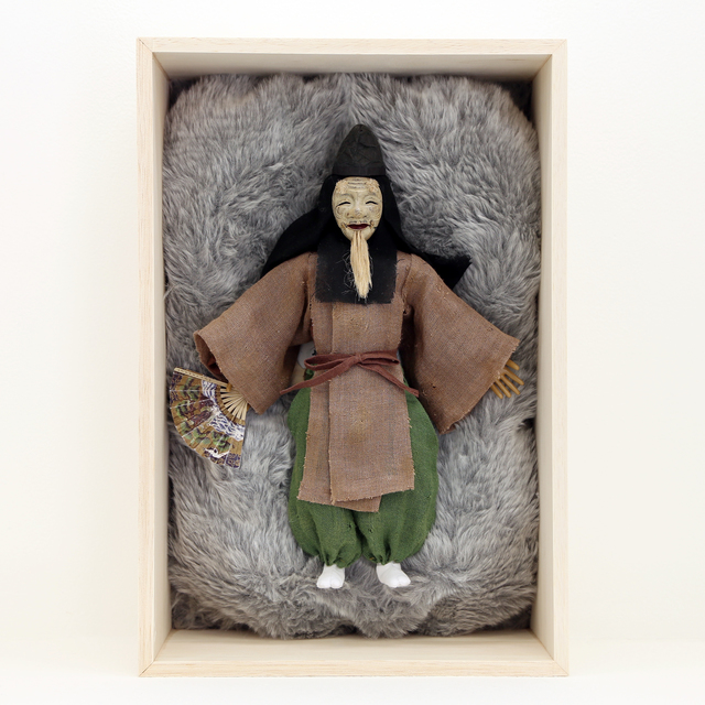 Tomoyasu Murata, 'Okina', 2015, Mixed Media, Brass, wood, wire, latex, cloth, cotton, hemp cord,  Japanese paper, stone powder clay, resin, acrylic paint, GALLERY MoMo
