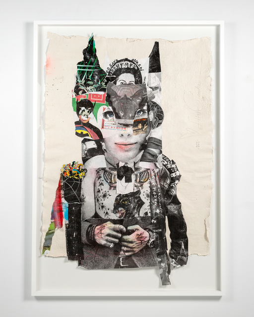 Stikki Peaches, 'Bella Batz', 2020, Mixed Media, Mixed media collage on handmade paper, S16 Gallery