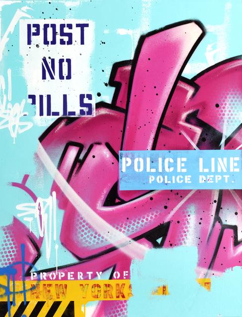 , 'POST NO BILLS PINK,' 2017, StolenSpace Gallery