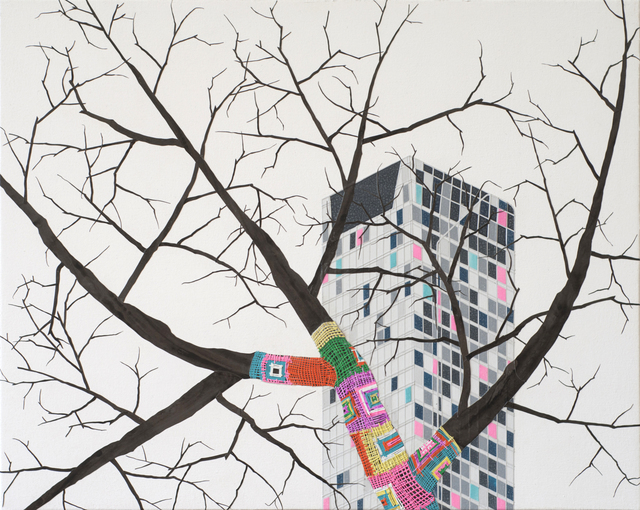 , 'no title (Knit bomb),' 2015, TAI Modern