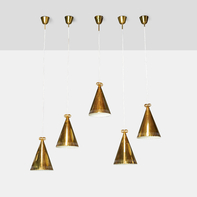, 'Paavo Tynell Brass Pendants,' 1950-1959, Almond & Co.