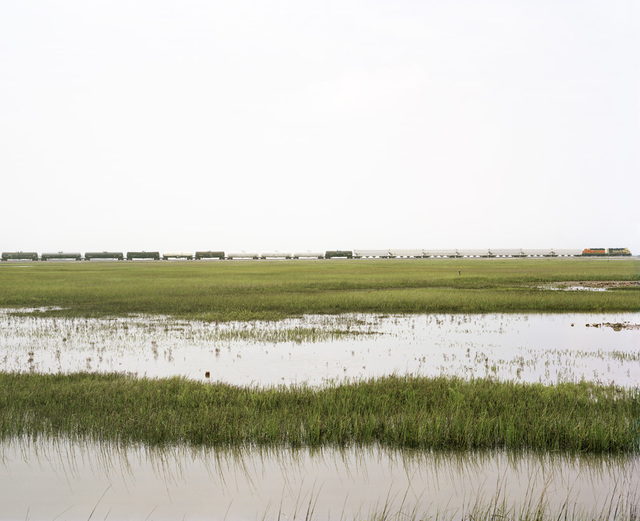 , 'Untitled (Trains Crossing Estuarial Corridor-5), Virginia Point, Texas,' 2015, Yancey Richardson Gallery