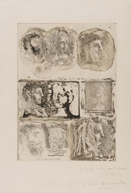 Pablo Picasso, 'Neuf Têtes (Bloch 285)', 1934, Forum Auctions