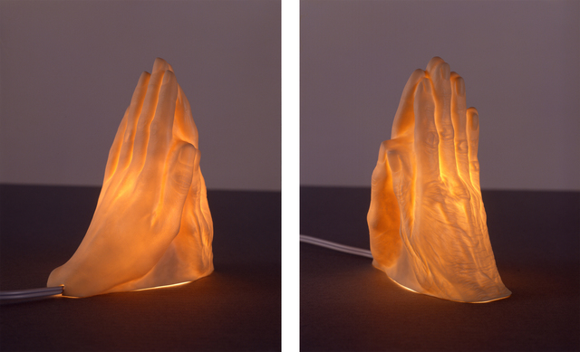 Janine Antoni, 'If I Die Before I Wake (mother's hand meets daughter's hand in prayer)', 2004, Sculpture, Porcelain nightlight with electrical fixture, Art in General Benefit Auction