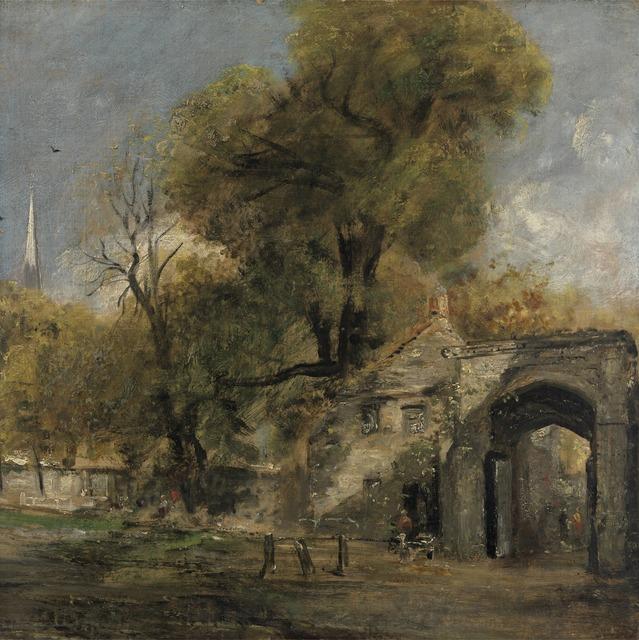 John Constable, 'Harnham Gate, Salisbury', between 1820 and 1821, Yale Center for British Art