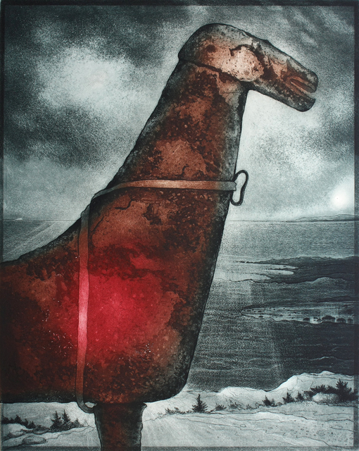 David Blackwood, 'John Stoke's Horse, Cape Freels', 2007, Print, Etching, Winchester Galleries
