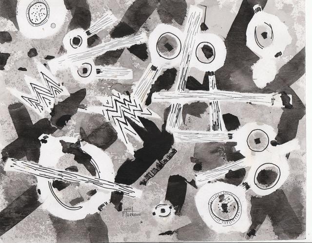 Patrick Tagoe-Turkson, 'Adomba (Bells)', ca. 2010, Print, Canvas, Nubuke Foundation (Ghana)