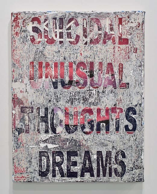 , 'Symptoms (Suicidal Thoughts Unusual Deams),' 2017, MARQUEE PROJECTS