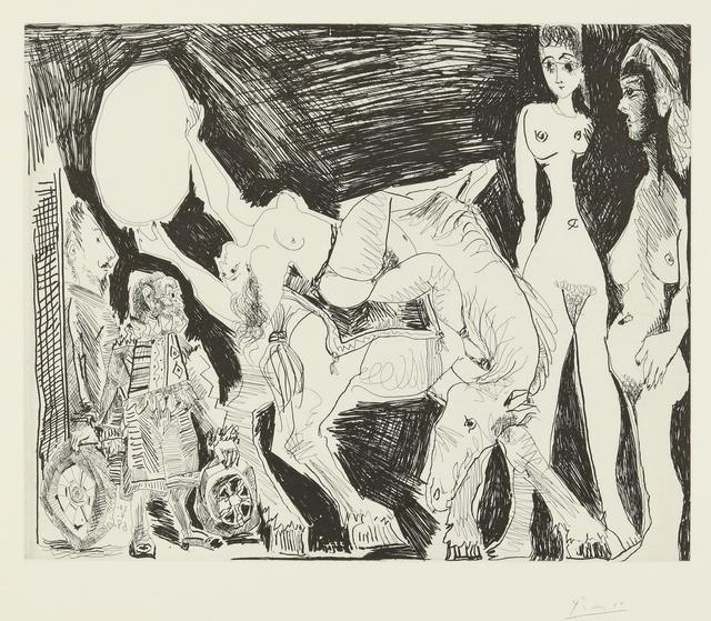 Pablo Picasso, 'Cirque: Écuyère, femmes et spectateurs, dont un garagiste déguisé (B. 1523; Ba. 1539)', 1968, Print, Etching, Sotheby's
