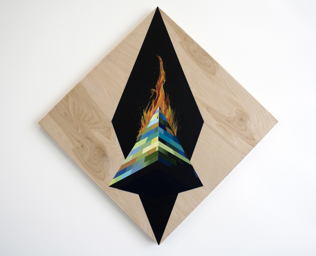 , 'Obelisk on Fire,' 2017-2018, Wilding Cran Gallery