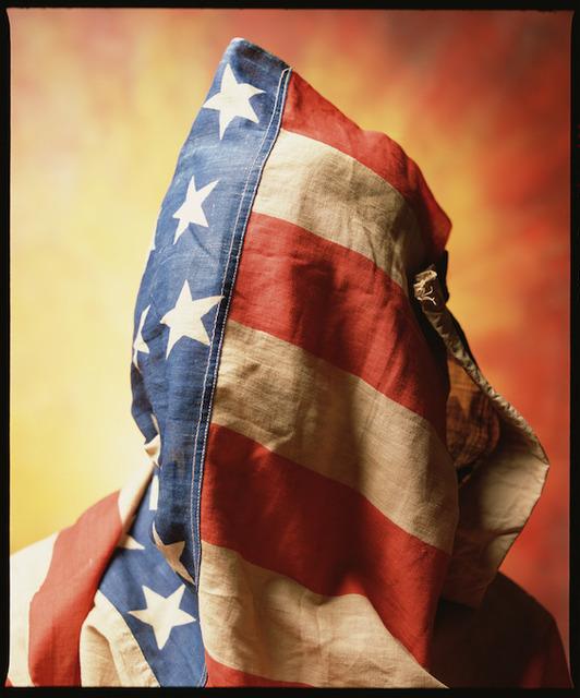 "Andres Serrano, '""Flag Face"" Circa 1890 American Flag (Infamous)', 2019, Galerie Nathalie Obadia"
