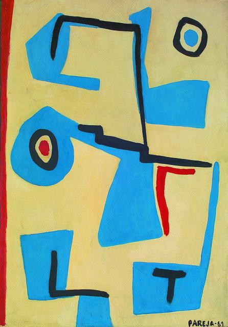 , 'Formas en azul,' 1961, Galería de las Misiones